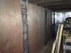 Plywood walls going up