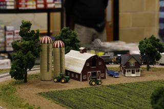 Barn and silos