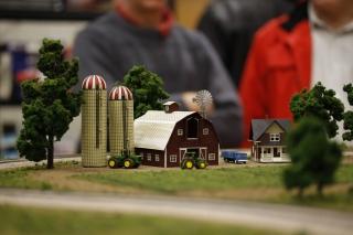 Barn and silos - eye-level