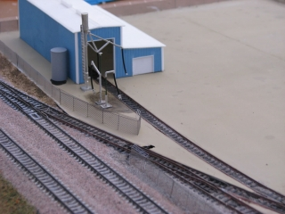 Yard entrance and loco shed