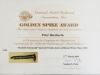Golden Spike Certificate - 27 March 2009