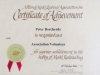 Volunteer Certificate - 28 October 2006