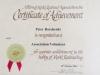 Volunteer Certificate - 28 October 2006