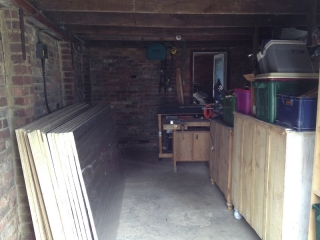 The garage before work begins