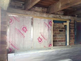 Insulation goes in
