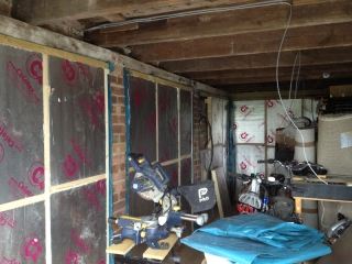 Wall insulation finished