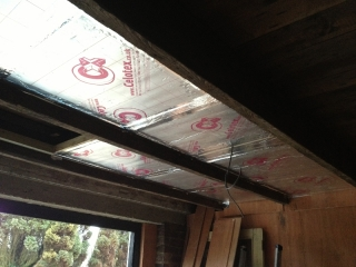 Ceiling insulation almost done