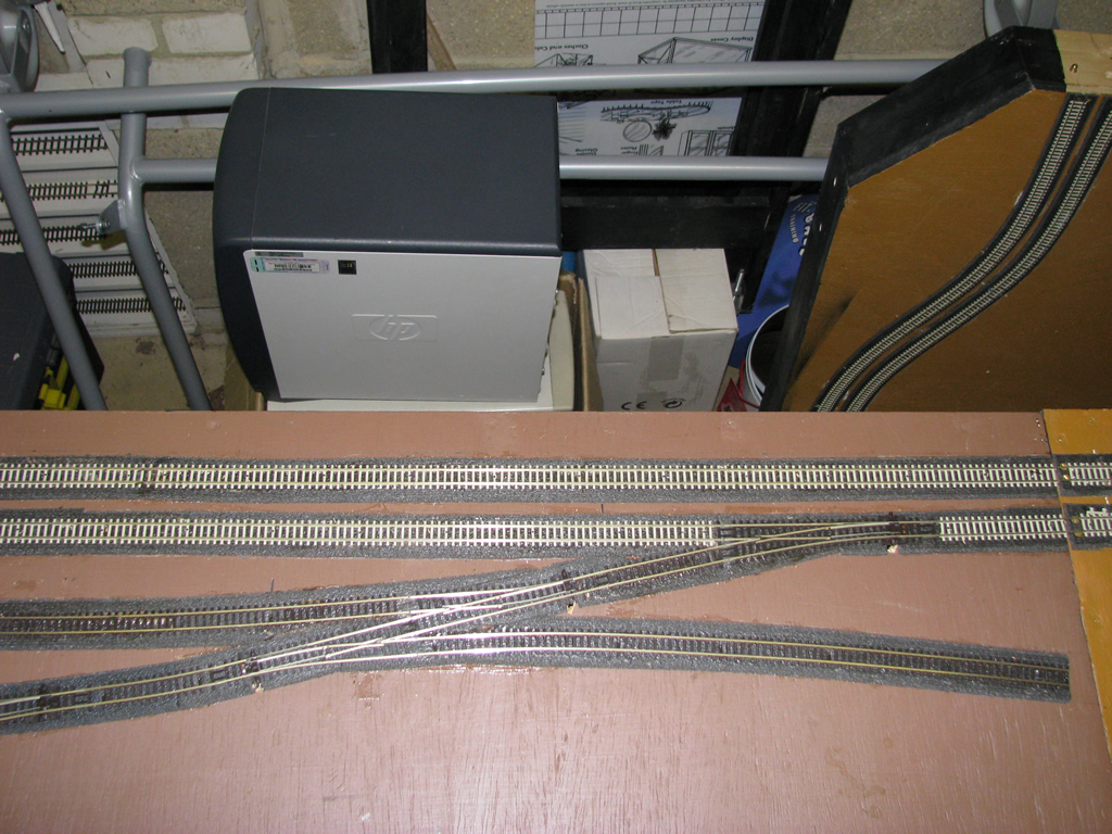Overhead view of pointwork at yard throat