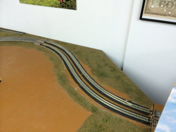 Track re-laid on loop board