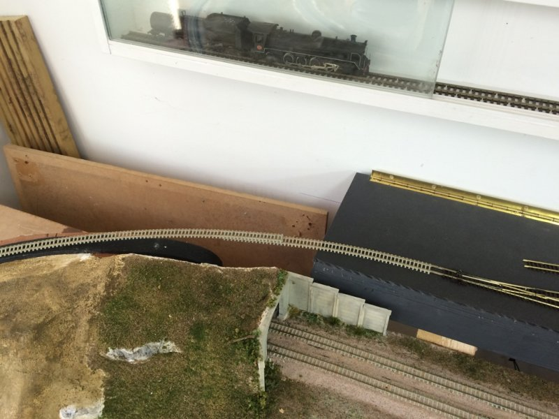 Testing yard connection to layout