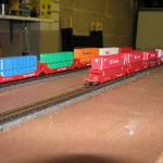 Close-up of intermodal cars
