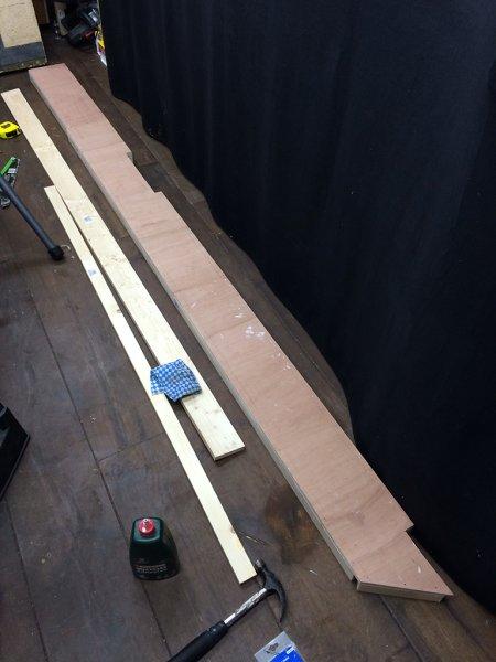 Yard board - woodwork complete