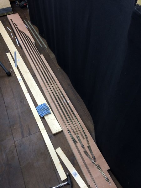 Yard boards - testing track layout
