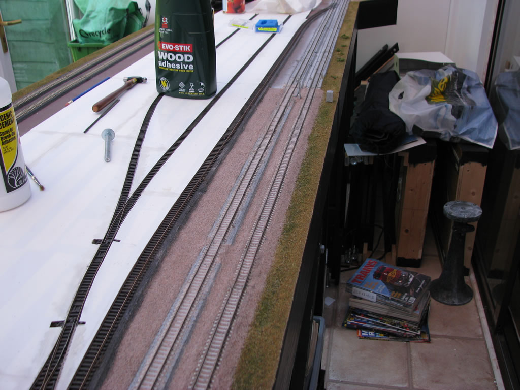 Track ballasting begins