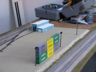 Close-up of intermodal yard